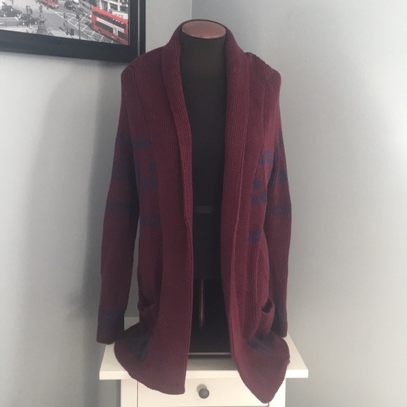 PacSun Sweaters - Maroon cardigan